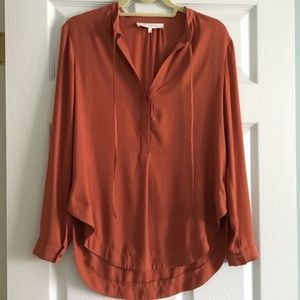 • ASTR Rust Blouse Tunic Top •